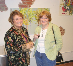 Artwork at Green First Friday: Jeanne Moyer-EcoBroker with Carol Humphrey