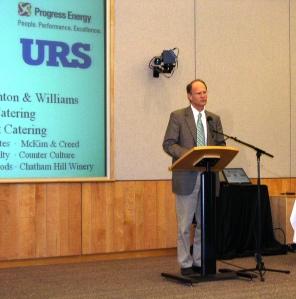 Mayor Meeker opens the award ceremony