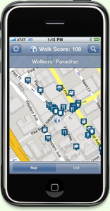 Walk Score iPhone